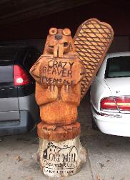 Crazy Beaver chainsaw carving