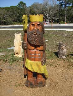 Neptune chainsaw carving