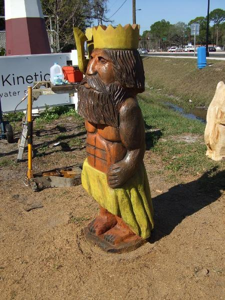 Custom order chainsaw carving