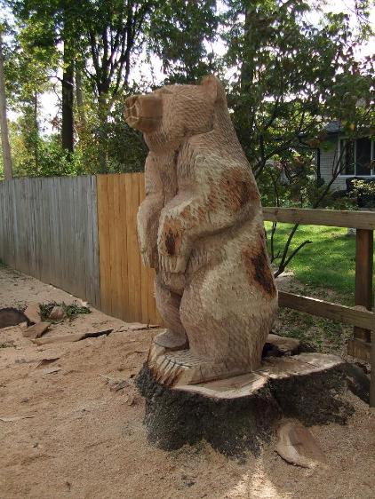 Bear chainsaw carvings tree carver art