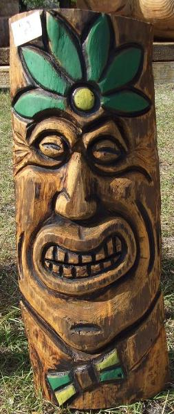 Tiki totem florida chainsaw sculpture at trader vic s